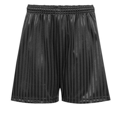 black shadow stripe shorts